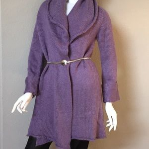 Sweaters - Soft Surroundings Lavender Open Front Sweater
